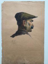 Портрет мужчины с усами в кепке