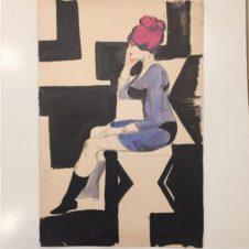 Сидящая женщина