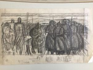 Двусторонний эскиз к картине «Яхромские высоты»
