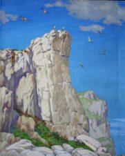 Чайки в синем небе