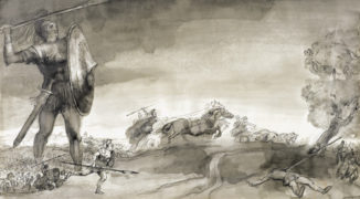 Эскиз к картине «Троянская война»