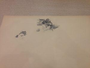 Два наброска к портрету жены художника А.А.Малявиной