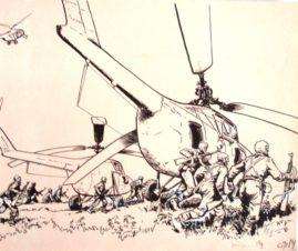 Иллюстрация «Высадка из вертолета»