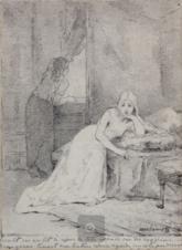 Изольда и Брангина на корабле (иллюстрация к опере Тристан и Изольда)