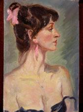 Жанровый портрет актрисы, жены художника
