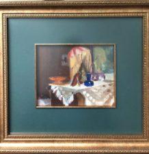 Натюрморт с голубой вазой