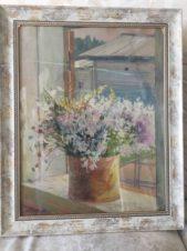 Полевые цветы на окне