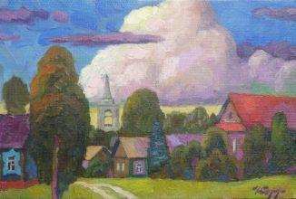 Облако над деревней
