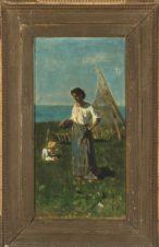 Девушка на берегу