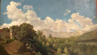 Пейзаж с облаками