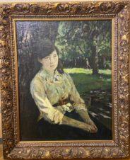 Девушка под деревом (копия картины Серова В.А.)