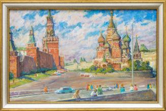 Вид на Васильевский спуск