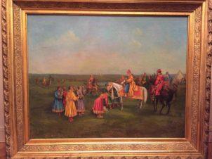 Соколиная охота царя Ивана Грозного. Поднесение почетной рукавицы