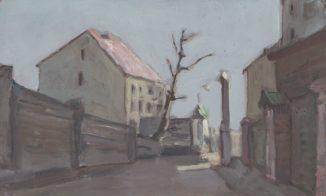 Весенняя улица маленького городка