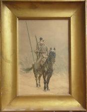 Всадник на коне с пикой