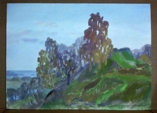 Деревья на склоне