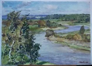 Река. Ветер.