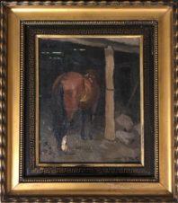 Лошадь на привязи