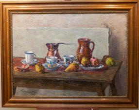 Натюрморт. Посуда и фрукты