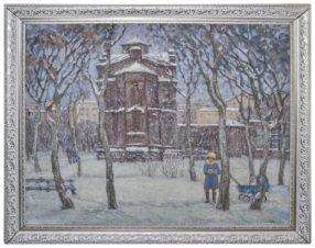 Храм Александра Невского. Курган. Зима