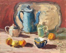Натюрморт с голубым кофейником