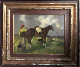 В поле с лошадью