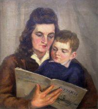 Портрет жены и сына
