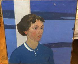 Портрет в синей гамме