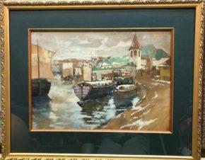 Лодки на пристани старого города