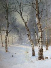 Зима (Утро в зимнем лесу)