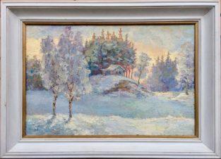 Зимний лес. Избушка