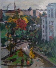 Мой район осенью (вид из окна)