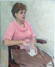 Женский портрет в розовом