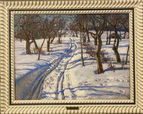 Дорога в зимнем лесу
