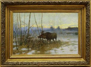 Пейзаж с лосем