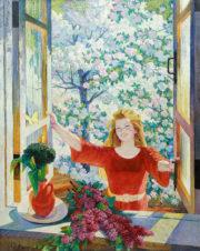 Девушка у открытого окна