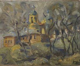 Этюд церкви д. Бабаево