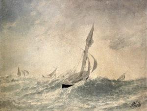 Яхты в море. Выборг