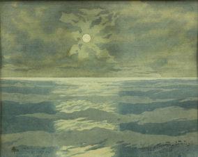 Лунная дорожка на море