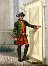 Гобоист Пехотного полка, с 1756 до 1762 года. Серия «Историческое описание одежды и вооружения российских войск».