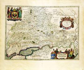 Старинная карта Московского княжества ( из «Нового атласа карт» Исаака Масса)