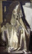 Белое платье ночью