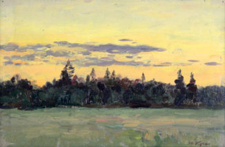 Золотой закат летом