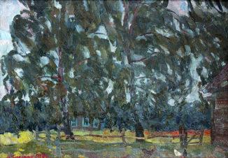 Домик за деревьями