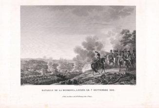 Сражение под Москвой 7 сентября 1812 года (Император Наполеон I при Бородино) из альбома «Военные кампании Франции времён Консульства и Империи
