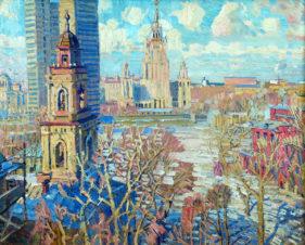 Вид на сталинскую высотку в Москве