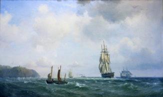 Парусники в море