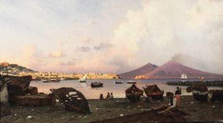 Вид на Неаполитанский залив и Везувий