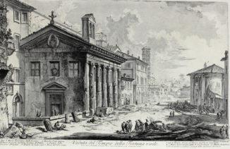 Вид на римский храм Фортуны Вирилис
