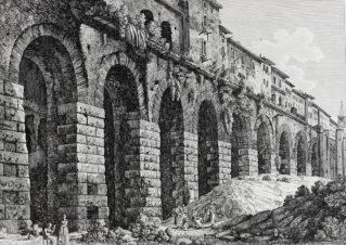 Вид римского акведука